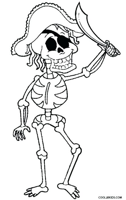 441x700 Skeleton Head Coloring Pages