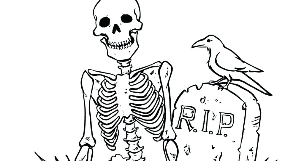 960x544 Skeleton Coloring Page Contemporary Decoration Skeleton Coloring