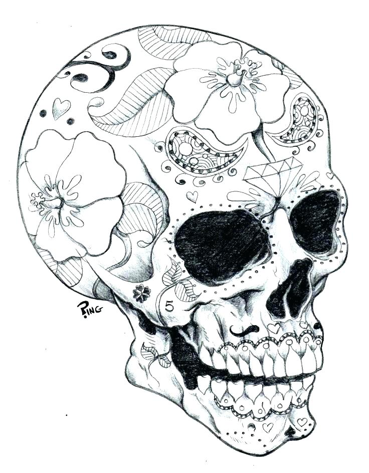 736x944 Day Of The Dead Coloring Pages To Print Day Of The Dead Coloring