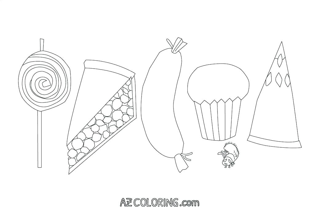 Hungry Caterpillar Coloring Page At Getdrawings Com Free