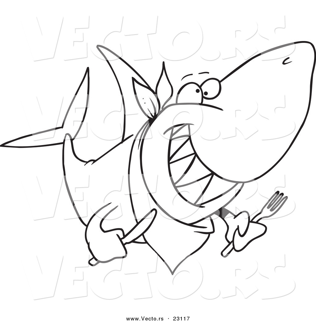 1024x1044 Hungry Shark Coloring Pages