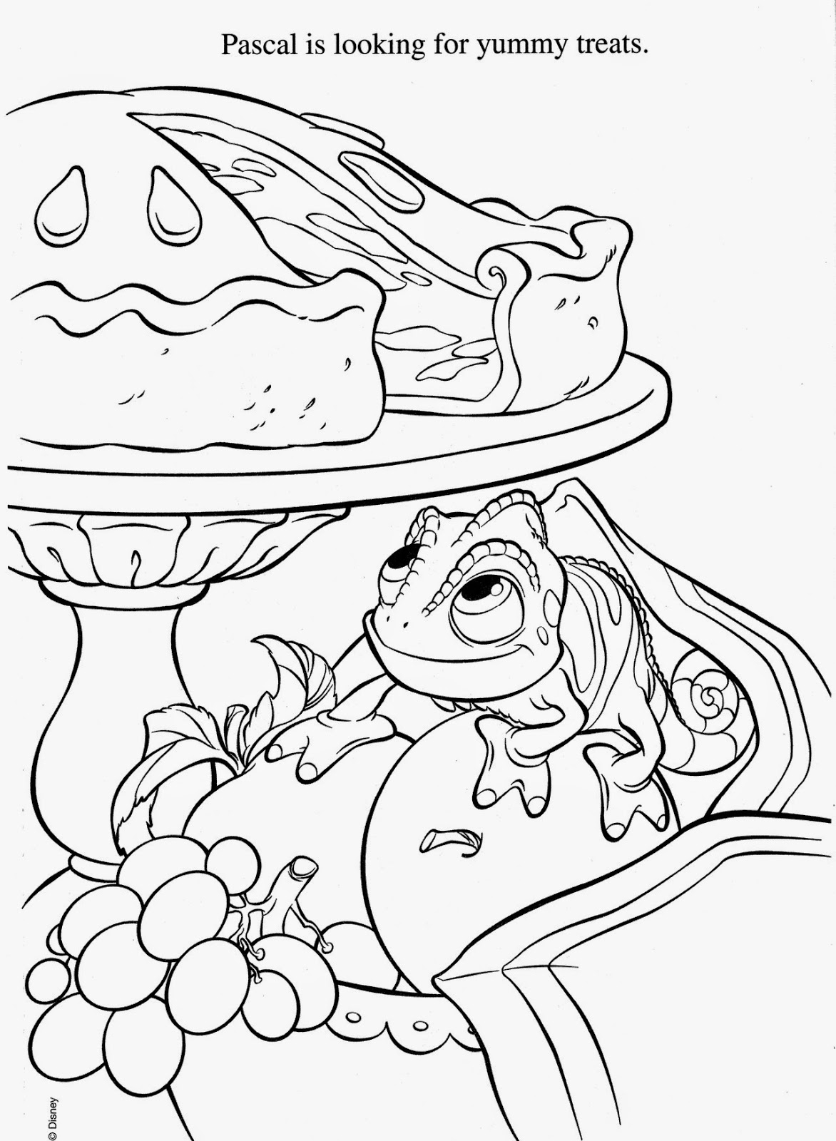1172x1600 Pascal Rapunzel Coloring Pages Free Coloring For Kids