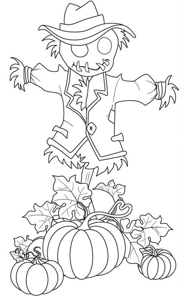 600x980 Best Icolor Scarecrows Images On Coloring Books
