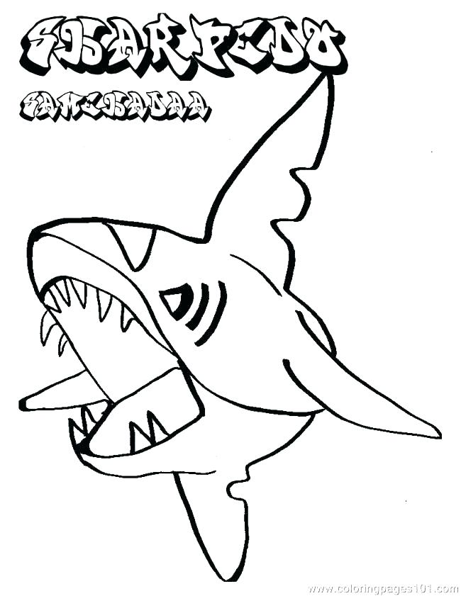 650x841 Shark Coloring Pages Free Best Great White Shark Coloring Pages