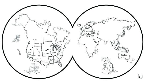 618x353 World Coloring Page Coloring Page World Map Map Coloring Book Also