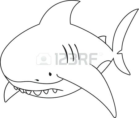 450x383 Shark Coloring Pages Coloring Kids Vector Illustration