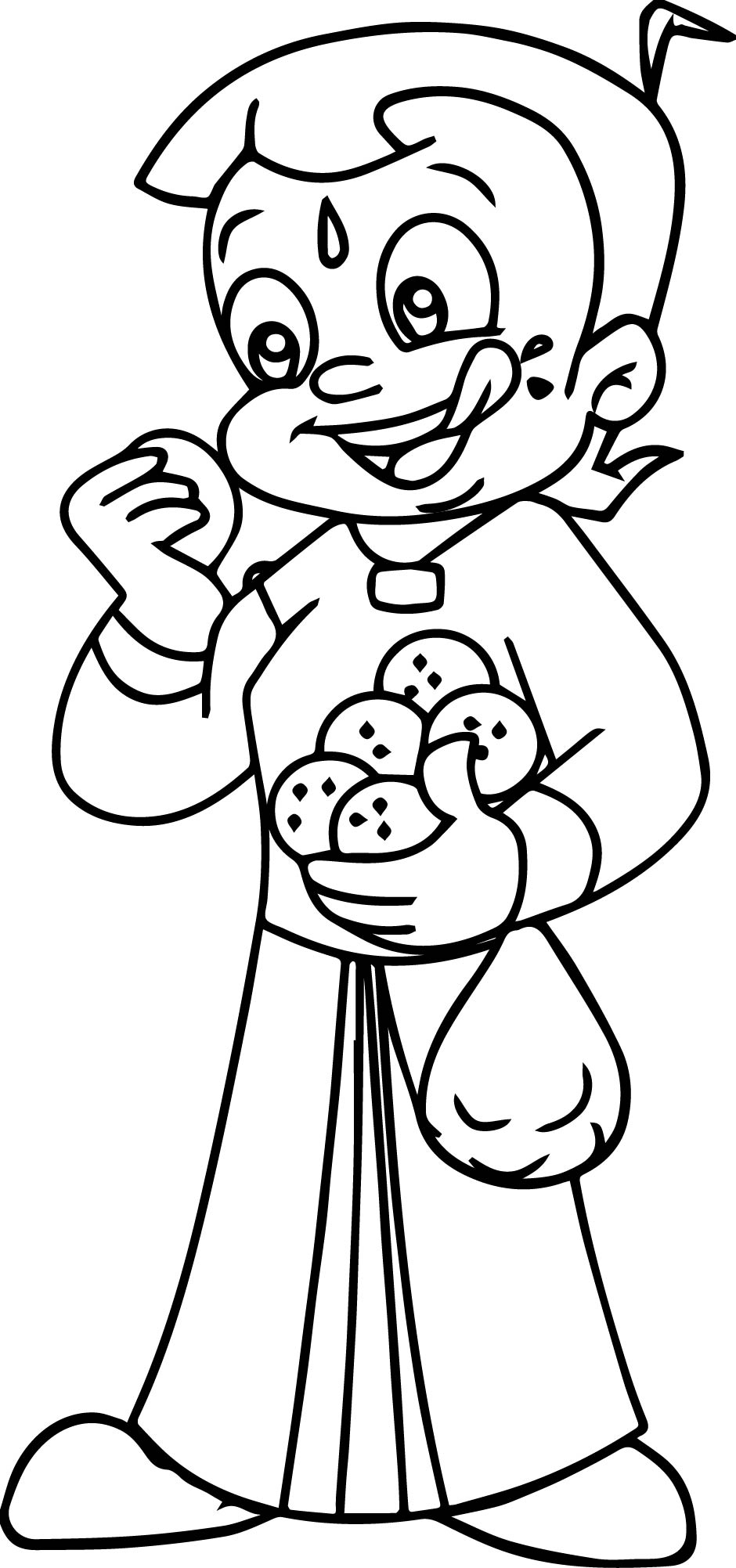 940x2003 Chhota Bheem Hungry Coloring Pages Wecoloringpage