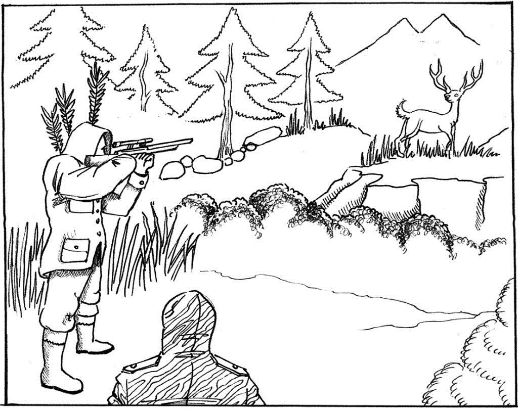 1024x809 Free Hunting Coloring Pages With Printable Hunting Coloring Pages