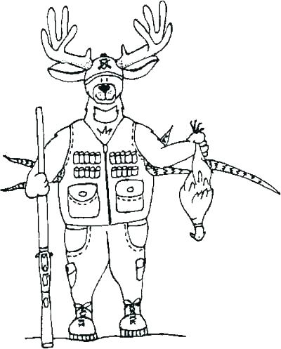 400x497 Hunting Coloring Pages Hunting Coloring Pages Deer Coloring Pages