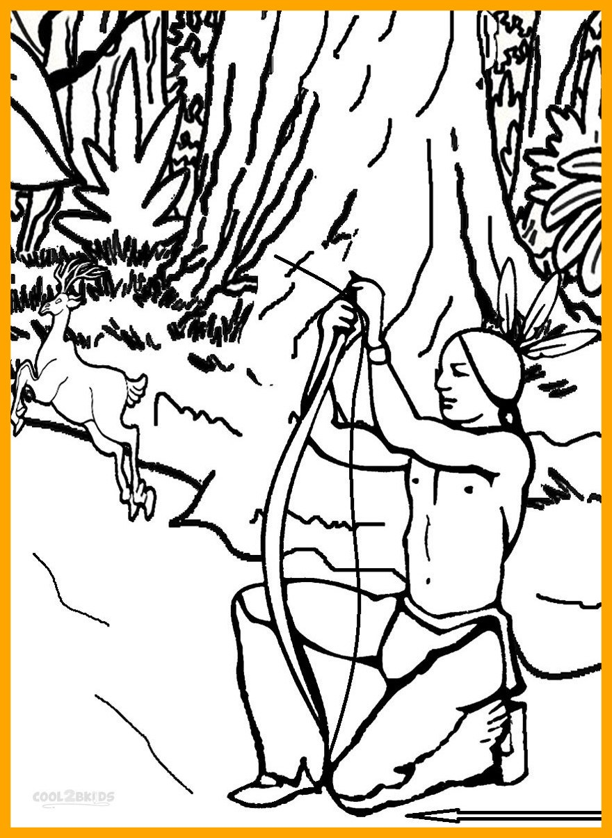 880x1205 Incredible Printable Hunting Coloring Pages For Kids Cool Bkids