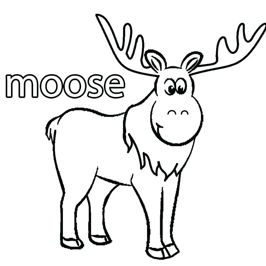 850x850 Hunting Coloring Pages Elk Coloring Page Cartoon Moose Coloring