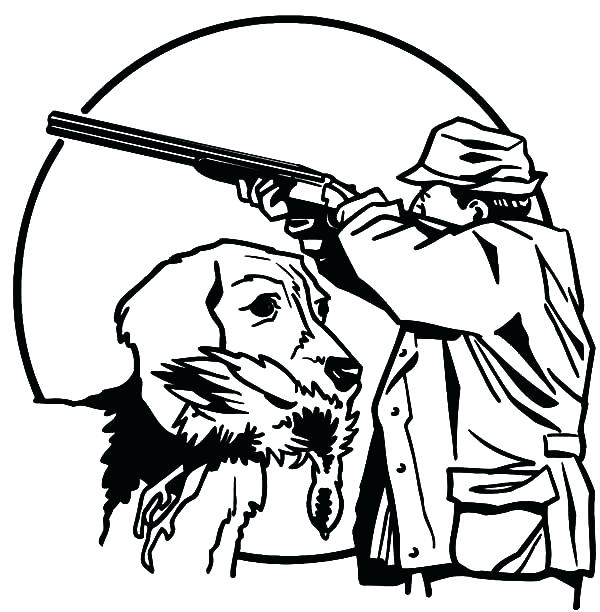 600x612 Hunting Coloring Pages Hunting Dog Coloring Pages