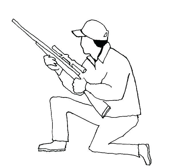 600x585 Deer Hunter Coloring Pages