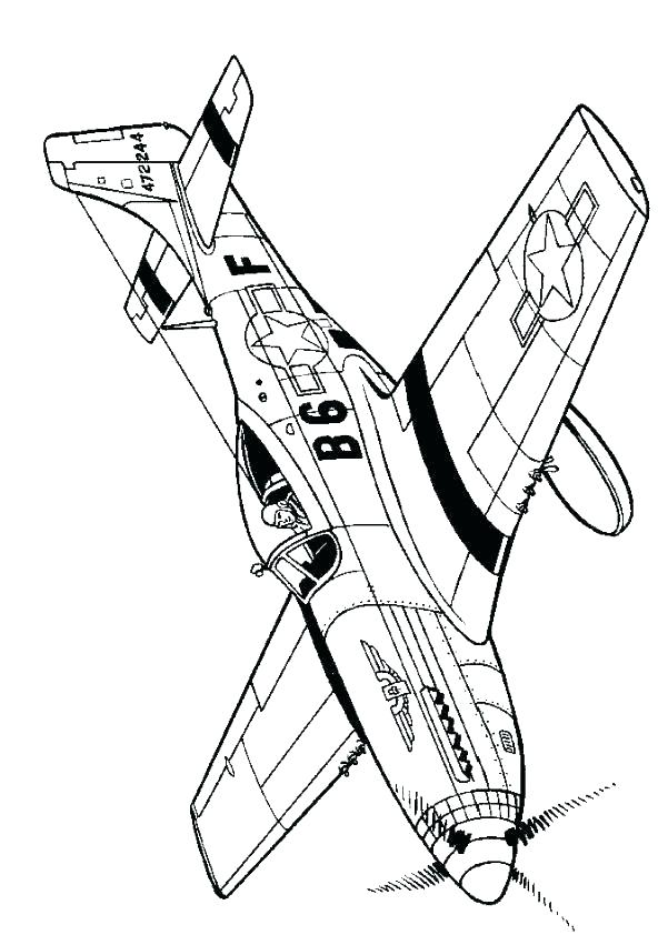 592x851 Plane Printable Coloring Pages Hurricane Fighter Hurricane Plane