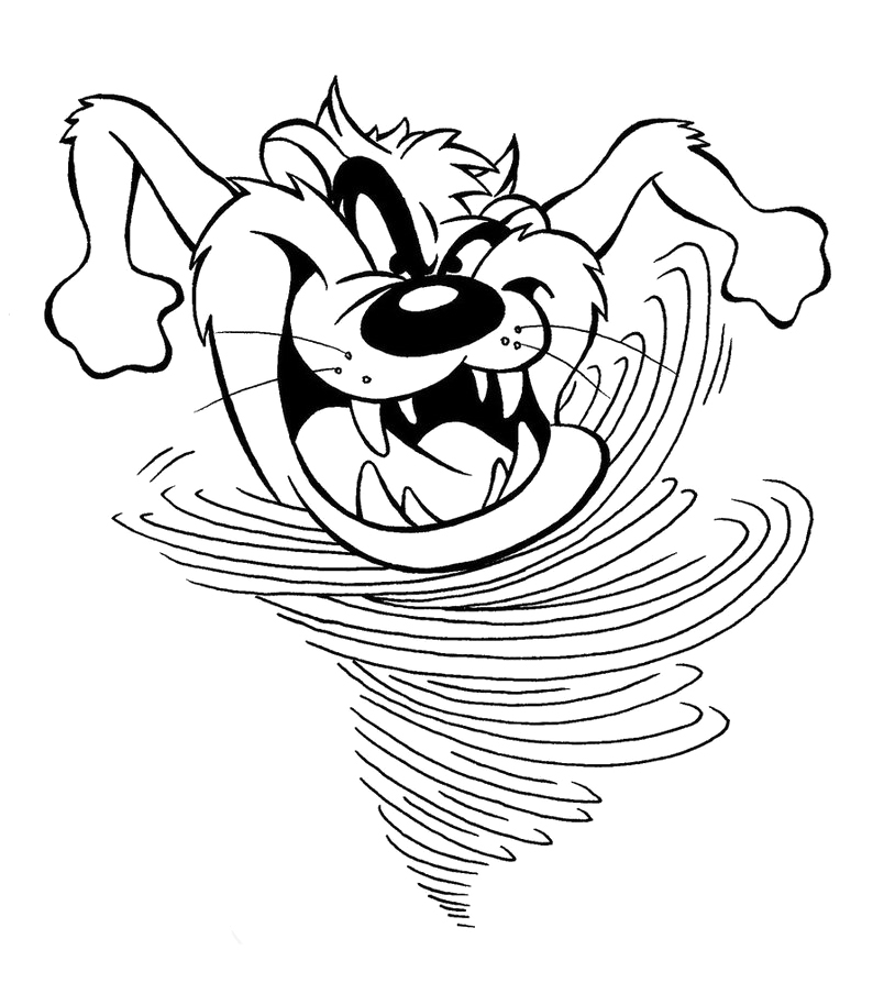 804x904 Tasmanian Devil As Hurricanes Coloring Pages