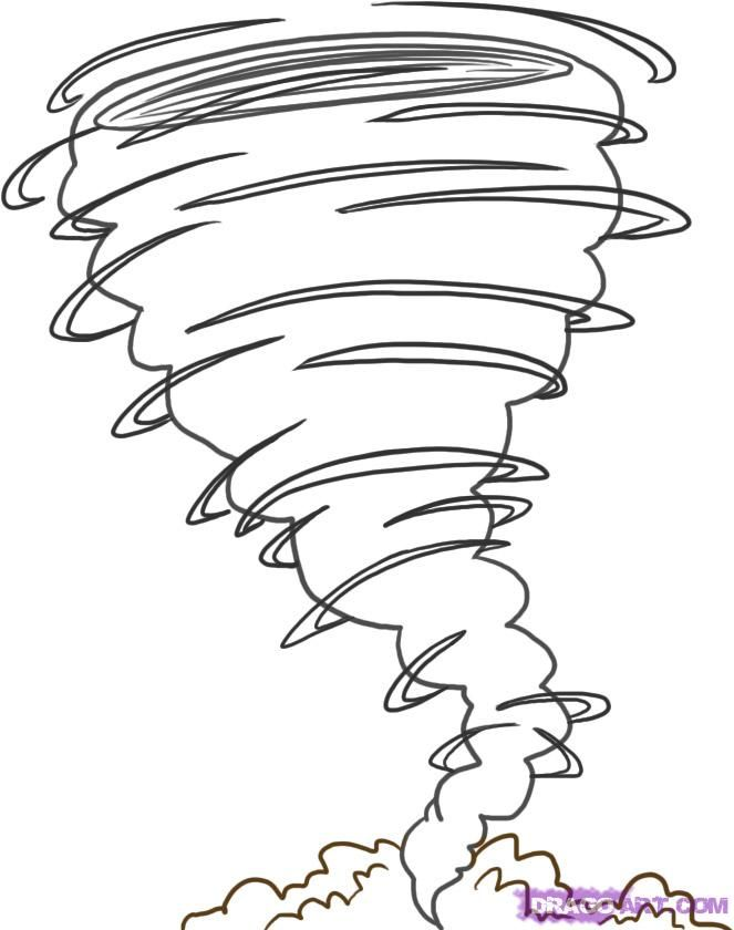663x840 Tornado Coloring Pages How To Draw A Tornado Step Readers
