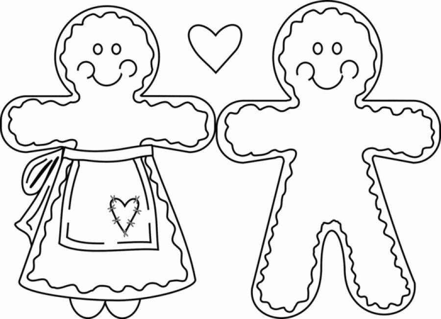 900x651 Gingerbread Husband And Gingerbread Wife Coloring Pages Fun