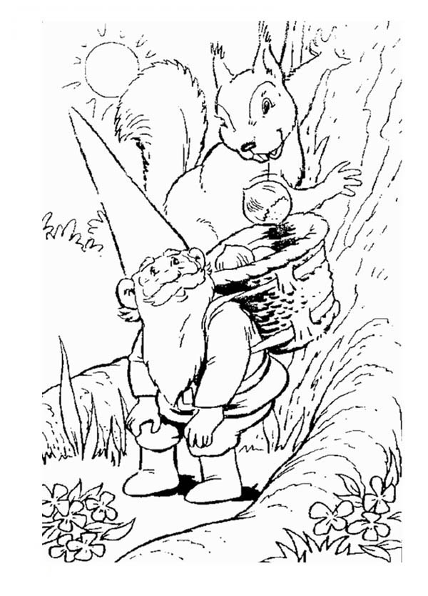 600x834 Lisa Serving Tea For His Husband David The Gnome Coloring Pages