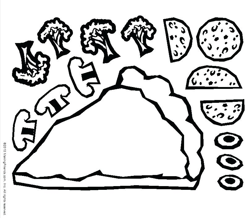 803x704 Pizza Coloring Pages Fancy Pizza Coloring Pages On Free Download