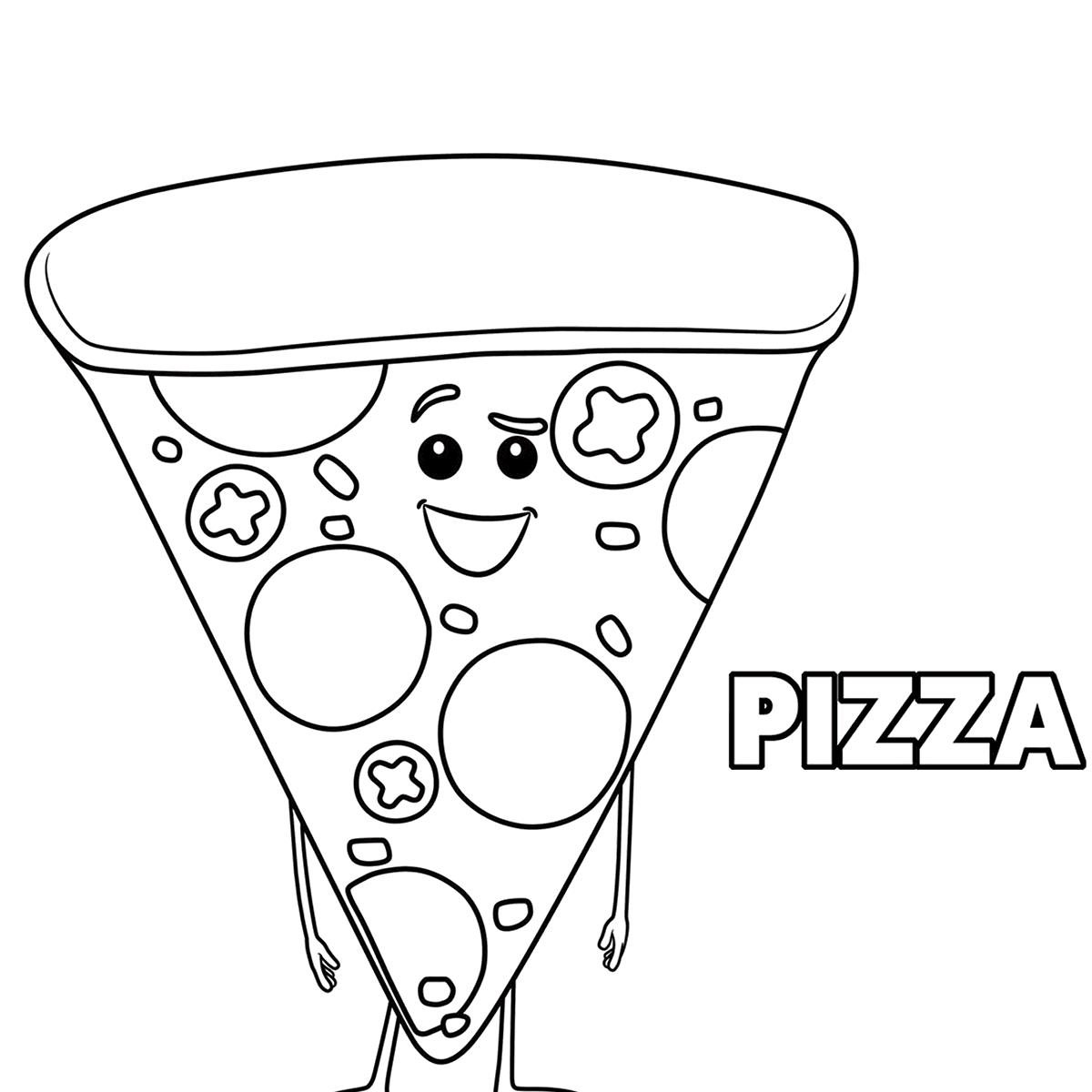 1200x1200 Pizza Coloring Pages Hut Colouring Party Sheets Cheese Toppings