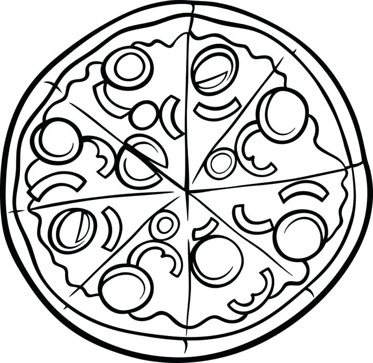 728x709 Coloring Page Pizza Pizza Hut Coloring Pages Make A Pizza Coloring