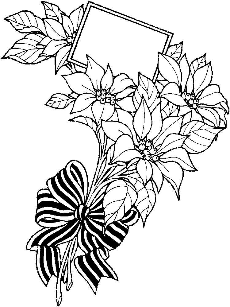 750x1000 Flower Bouquet Coloring Pages Download And Print Flower Bouquet