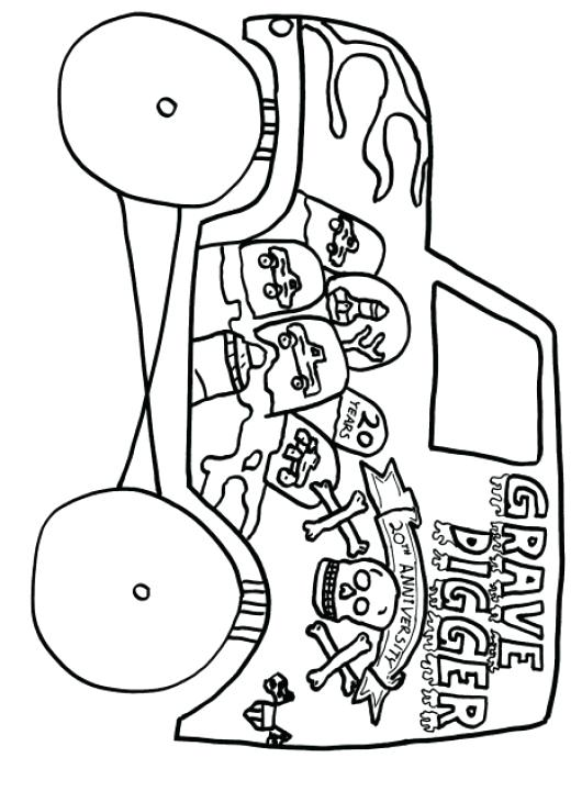 This is a graphic of Inventive grave digger coloring page