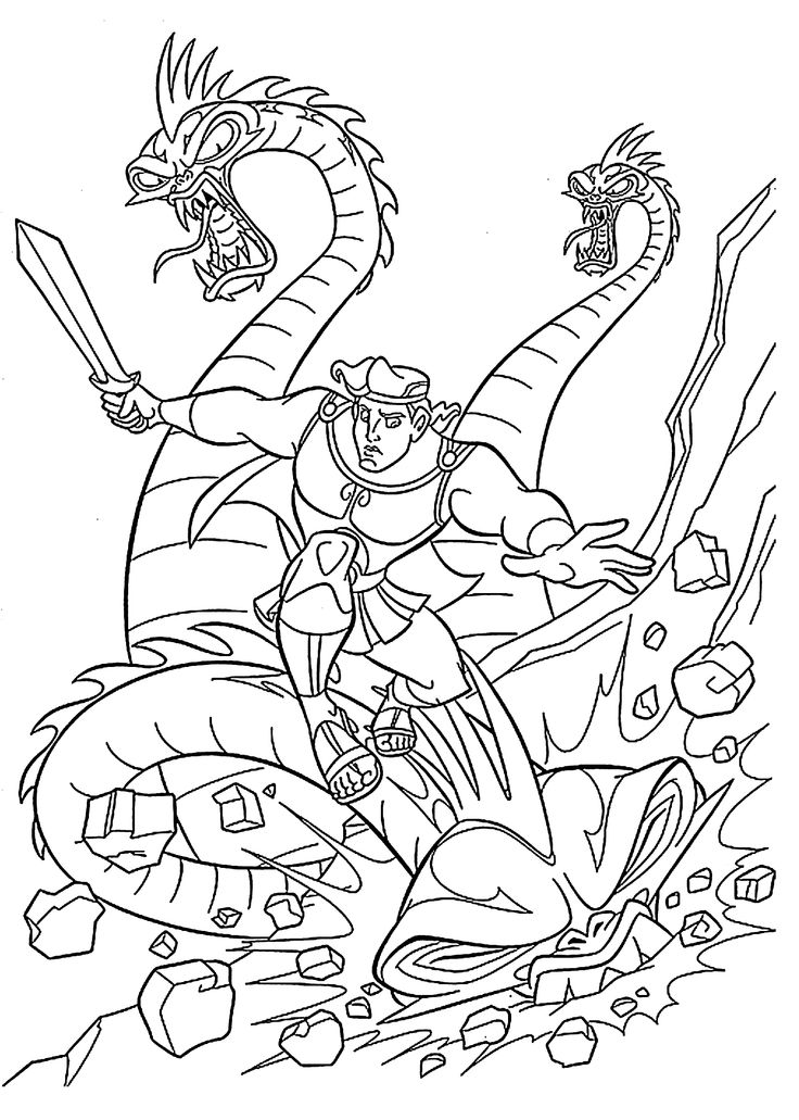 Hydra Dragon Coloring Pages