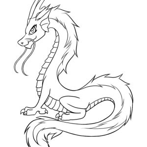 300x300 Sea Dragons Coloring Pages New Sea Serpent Dragon Coloring Page