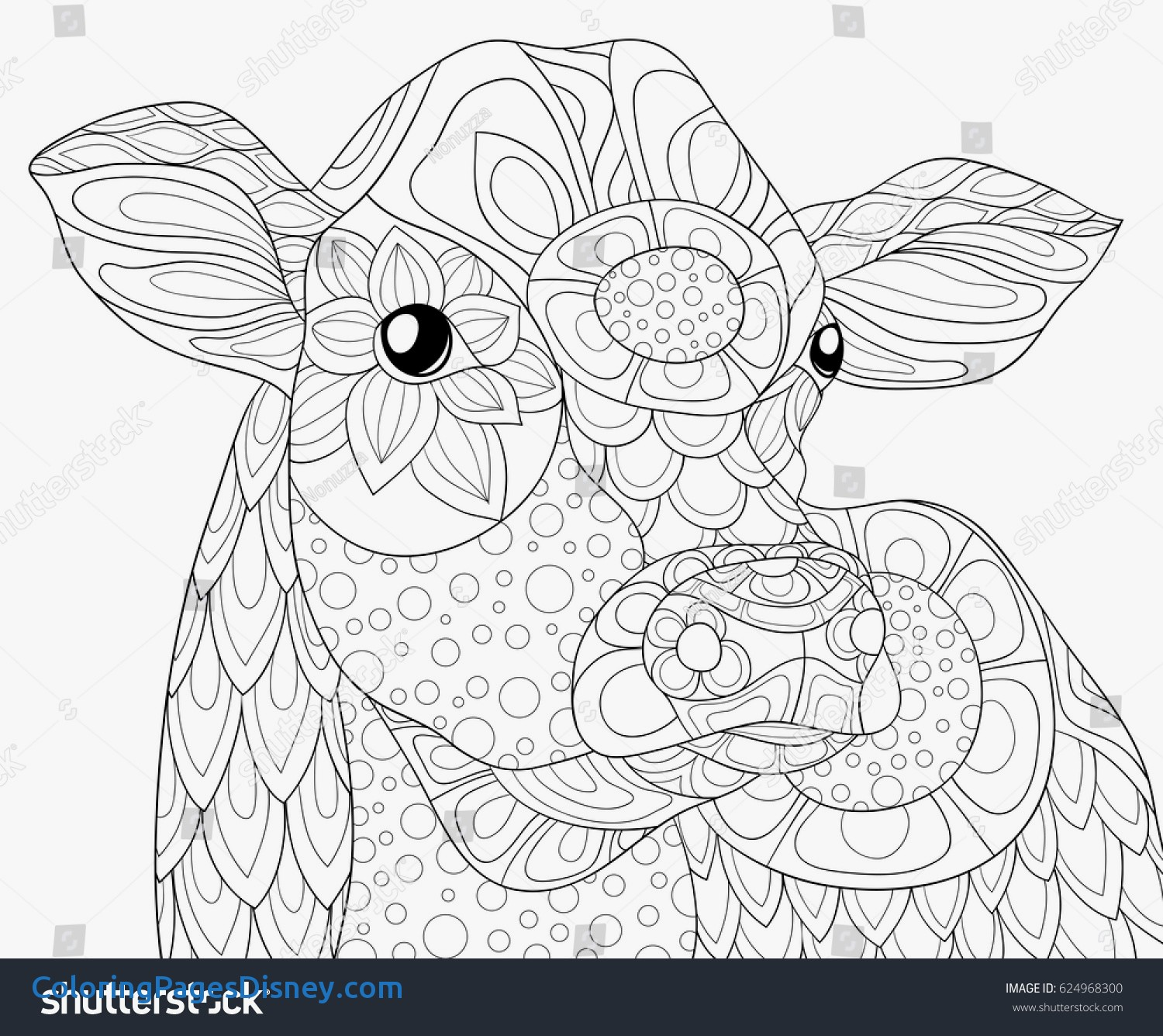 1500x1336 Hydrangea Coloring Pages Fresh Adult Coloring Page Cow Zen Art