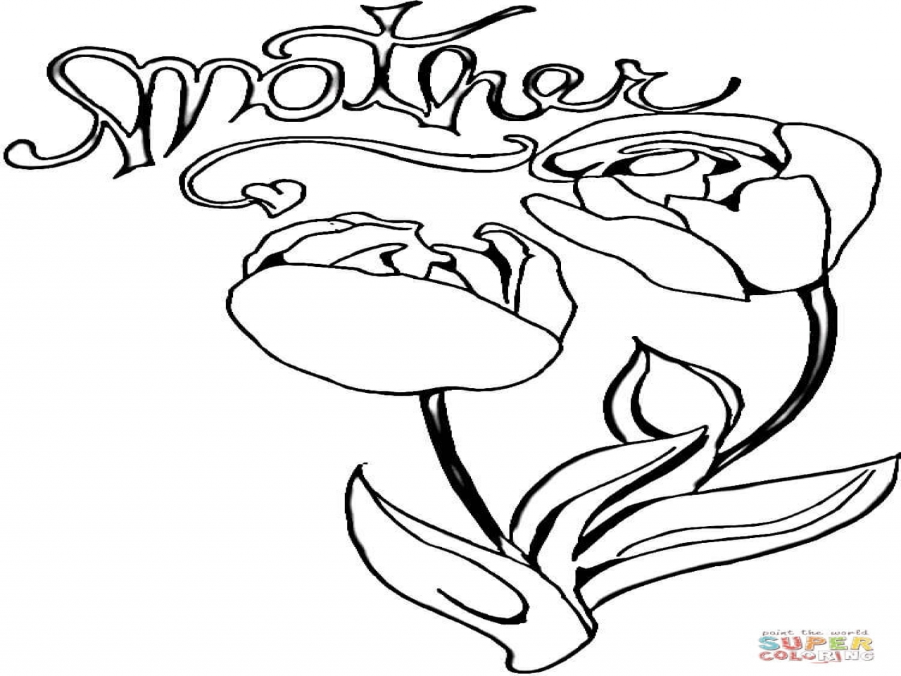 1280x960 Mom Coloring Tulips For Page Pages