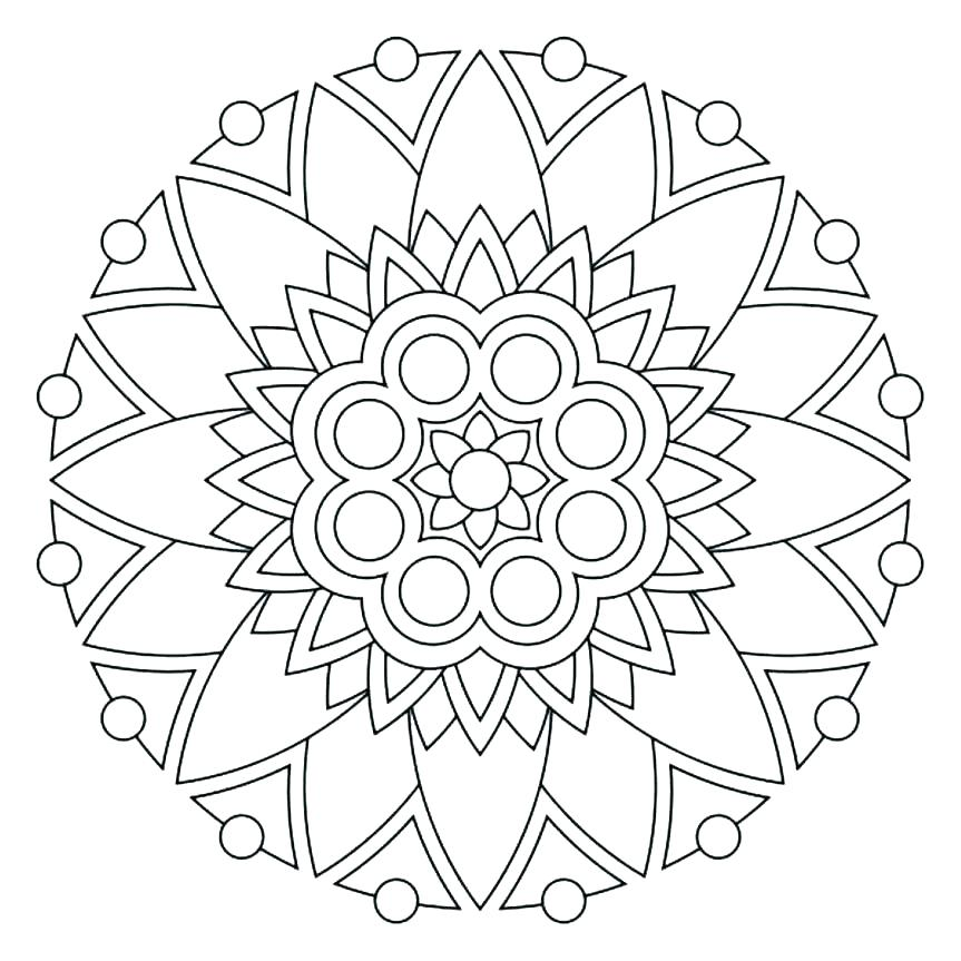 863x863 Coloring Page Of Flowers Hydrangea Flower Online Coloring Page
