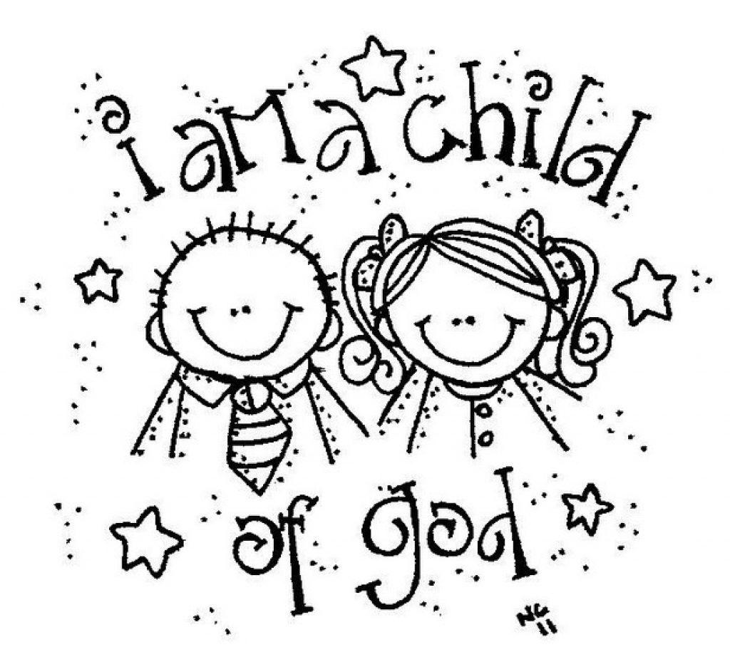 1024x915 I Am A Child Of God Coloring Page Auto Market Me