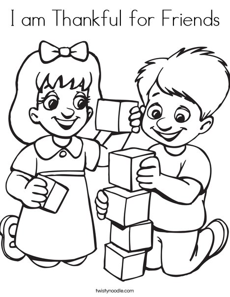 468x605 I Am Thankful For Friends Coloring Page