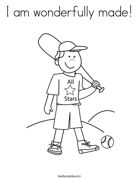 468x605 I Am Wonderfully Made Coloring Page