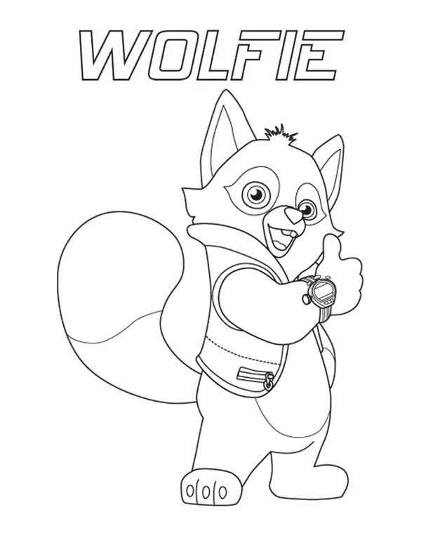 600x776 Special Agent Wolfie Of Special Agent Oso Coloring Page