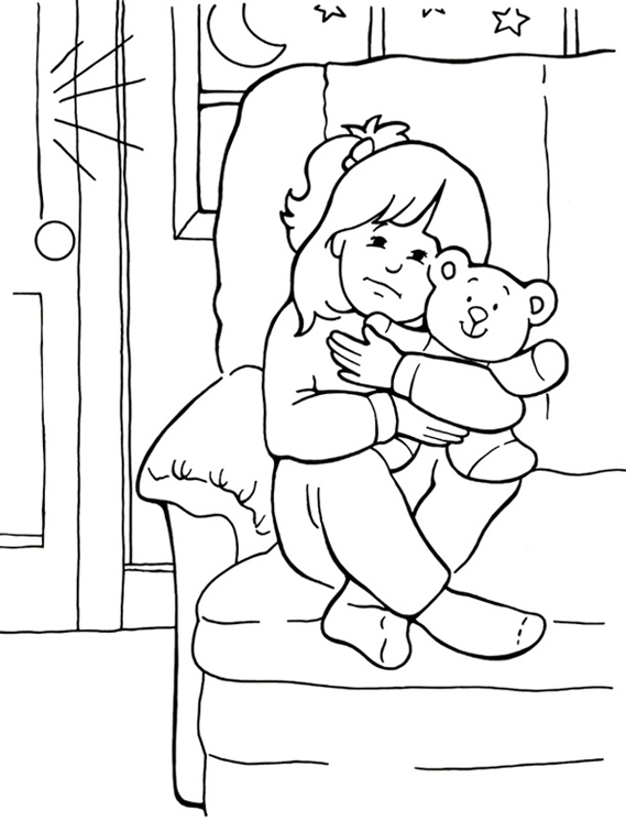 569x756 When I Am Afraid Coloring Page