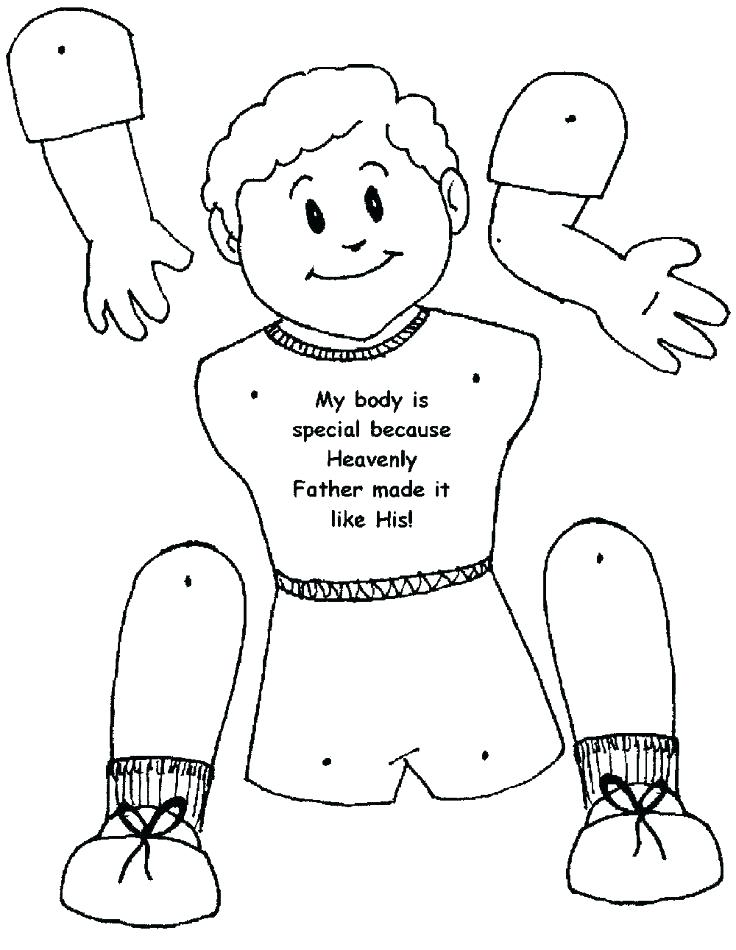 736x950 Body Parts Coloring Page I Am A Child Of God Coloring Page Body