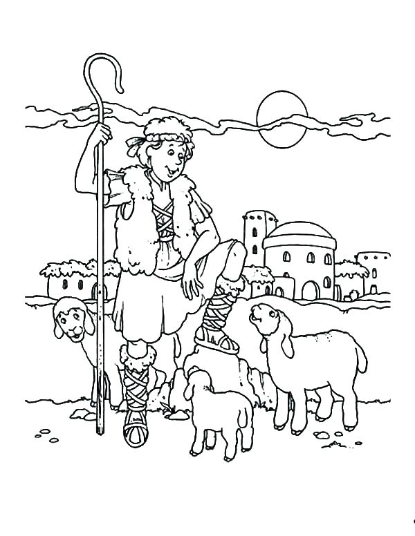 The Best Free Shepherd Coloring Page Images Download From 556 Free