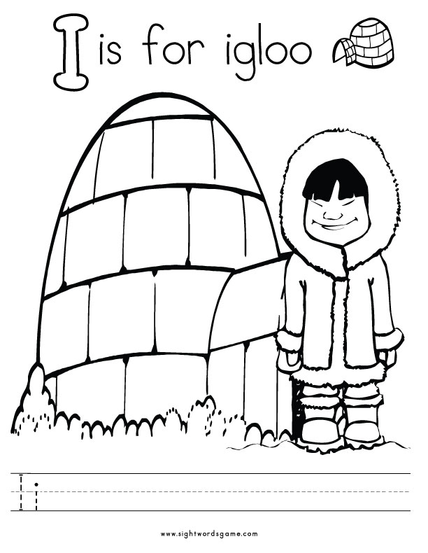 612x790 I Coloring Page Alphabet Coloring Pages