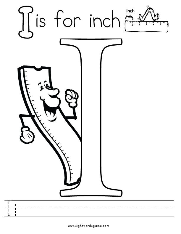 612x790 Letter I Coloring Page Letters Of The Alphabet