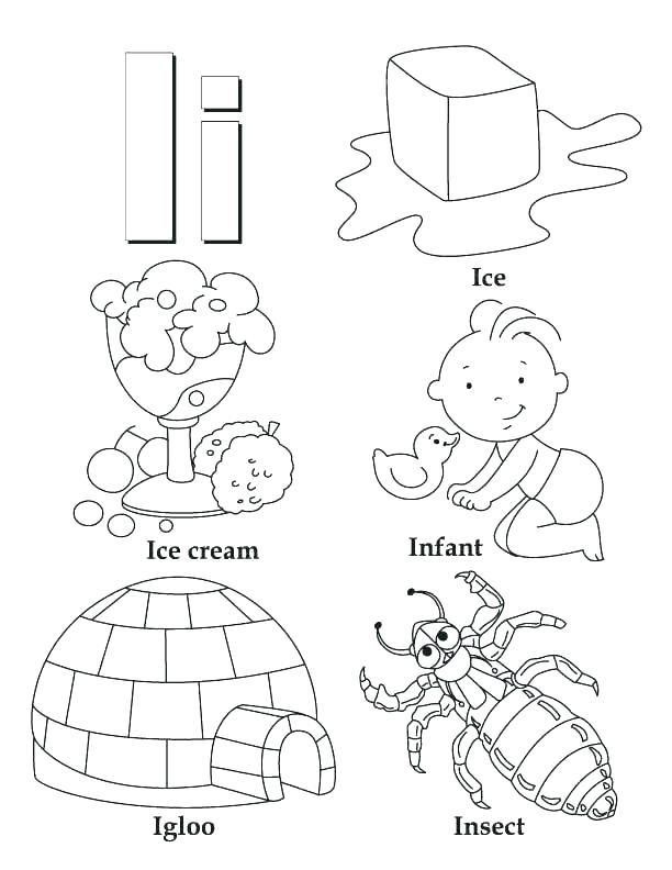 612x792 Letter I Coloring Page Inspirational Coloring Es Letter L New E