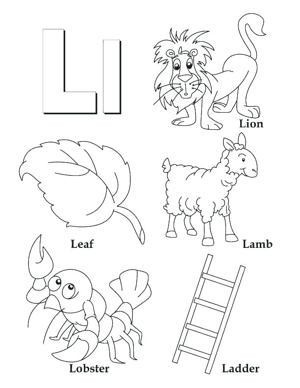 612x792 Alphabet Letter Color Pages Letter I Coloring Page Alphabet Letter