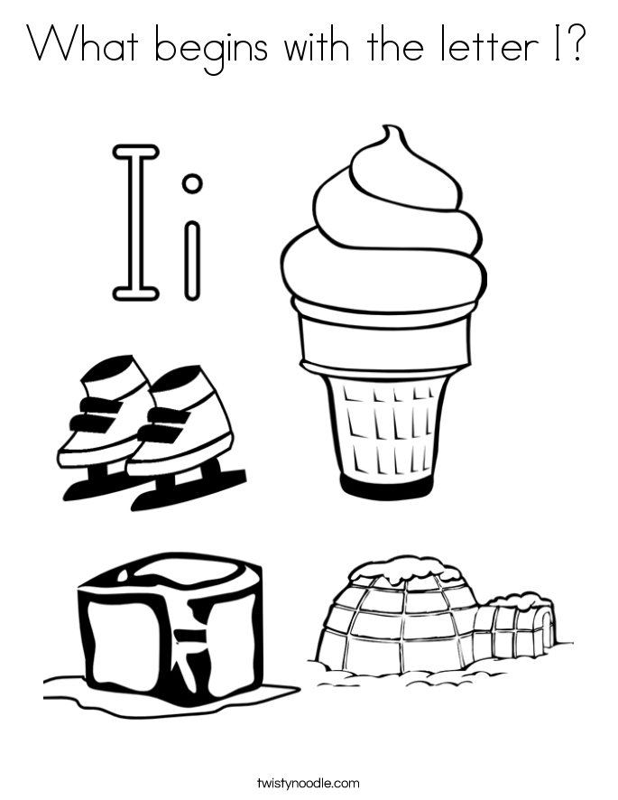 685x886 What Begins With The Letter I Coloring Page