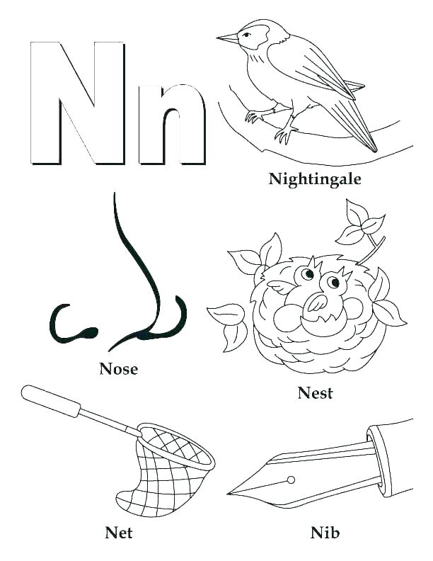 612x792 Coloring Letters Printable Letter I Coloring Page Letter Coloring