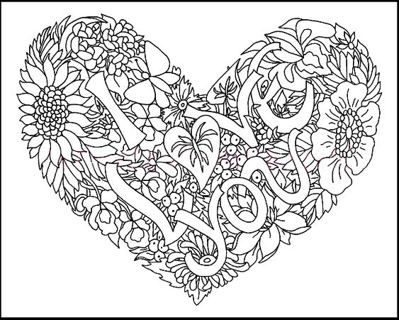 I Heart You Coloring Pages