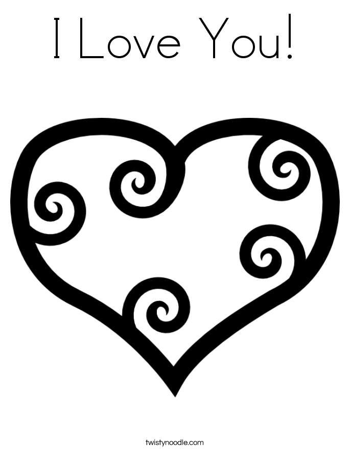 685x886 I Love You Coloring Page