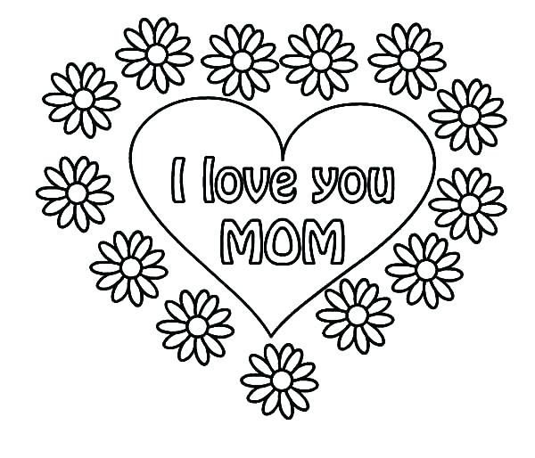 600x514 I Love You Coloring Page I Love Dad Coloring Sheets I Love You I