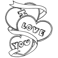 200x200 I Love You Coloring Pages Collection
