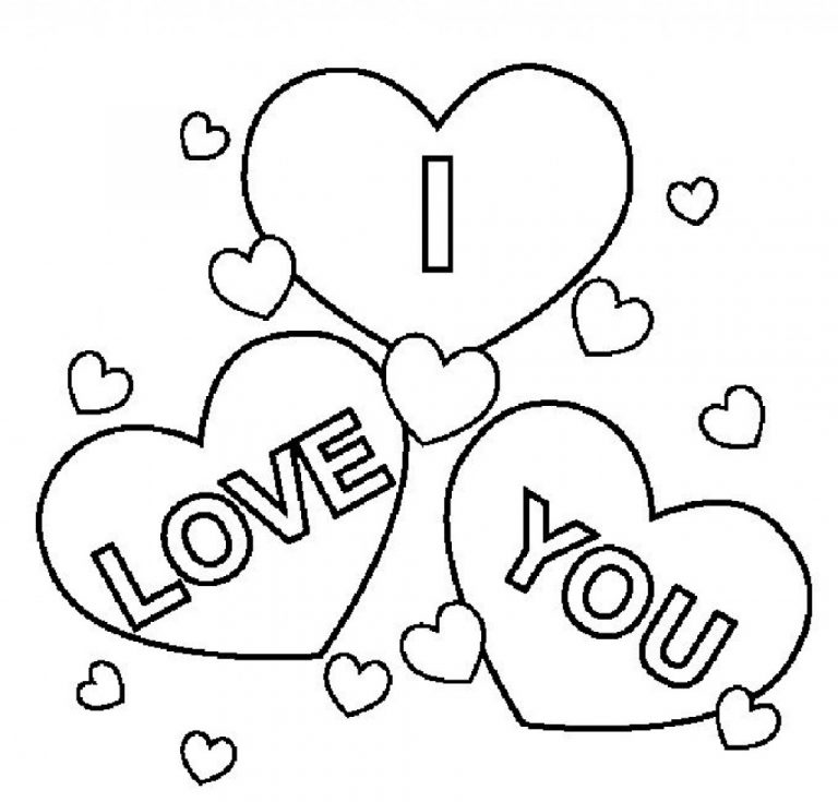 768x735 I Love You Coloring Pages Online New Copy Color Aecost